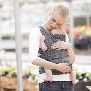 BOPPY ComfyFit Baby Carrier Heather Gray 8-35lbs